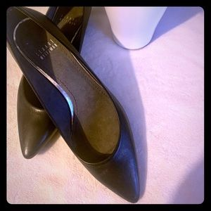 Stuart Weitzman Black Wedge Shoes